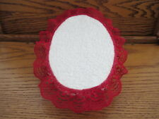 "9""x6"" Doll Bed Display Prop 4 Ooak Baby Soft Fabric Cover Metal Frame Lace Trim"