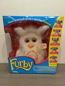 FURBY EMOTOTRONIC RARE white/ beige Tiger Electronics 57752 2005 Hasbro