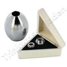 Wirbelei aus Edelstahl in der Ei Ur-Form, Wasserbelebung, Wasserwirbler, Glocke