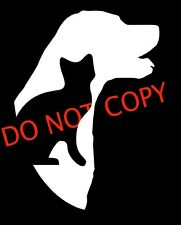 "Love Dog Cat  Animal Car 5"" Window Vinyl Decal Sticker CUTE Love Animals"