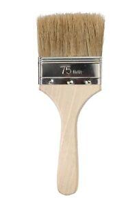 """Gelcoat 3"""" Natural Bristle, Low Loss, Wooden Handle Brush - 12 pack"""
