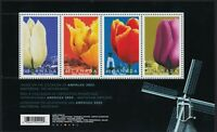 TULIPS = Spring flowers = Souvenir Sheet of 4 stamps = Canada 2002 #1747 MNH VF