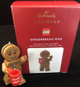 GINGERBREAD MAN  Lego Minifigure 2020 Hallmark Keepsake Ornament Free ship MIB