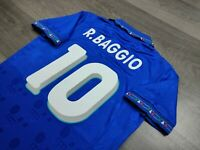 [Retro] - Italy International Club Home Fifa Worldcup 1994 with 10 BAGGIO Size M