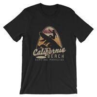 California Beach Surfing Paradise T-Shirt. 100% Cotton Premium Tee NEW