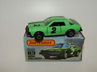 Matchbox Superfast No 63 Dodge Challenger Green Int Lesney Hong Kong NMIB RARE