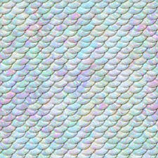 Mermaid Scales Fish Water Sea Icing Sheet Cake Topper A4 (N3)