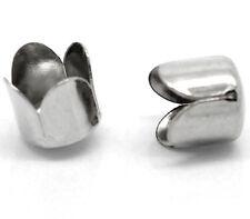 200 Silver Tone Bead Caps Fit Chain Tassel 8mm