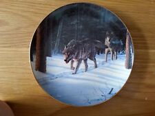 "Bradford Exchange ""Evening Quest"" Winter Guardians collector plate (1997)"