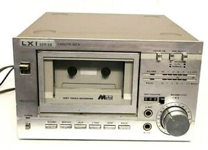 Vintage Sears LXI Series Stereo Single Cassette Deck Model 564 Silver Face Rare