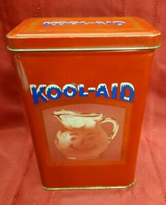 Vintage Kool-Aid Tin Collectible Canister Metal Canister. Excellent Condition!