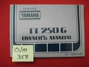 VINTAGE 1980 YAMAHA TT250G FACTORY ISSUED OWNER'S MANUAL-OEM-HTF COLLECTIBLE EXC