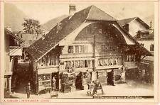 A. Gabler, Suisse, Ancienne maison à Interlaken, ca.1880, vintage albumen print
