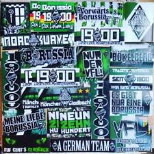 100 X Borussia Mönchengladbach Ultra Adhesivos aufkleber basado en Camisa Bandera cicatriz