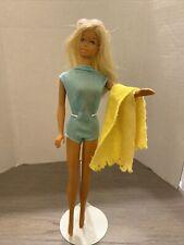Vintage Barbie #1067 Japan Malibu Barbie Doll SunSet Blue Swimsuit