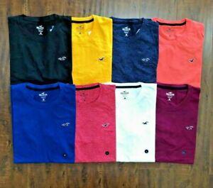 Hollister Men's Short Sleeve Crew Neck Tee Muscle Logo T-Shirt