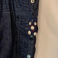 BCB Girls  Shorts Size 29 Cargo Dark Wash Drawstring Denim With Beads And Shells