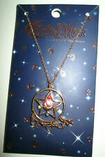 Sailor Moon R crystal compact necklace, gold charm costume jewelry brand new