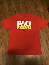Nike Manny Pacquiao Pac Man Knows Filipino Boxing Shirt Large Nwts Mens Red L