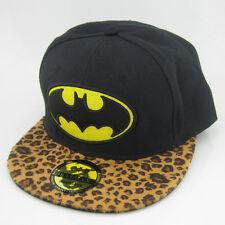 New Black Batman leopard print hiphop Snapback Adjustable baseball cap flat hat