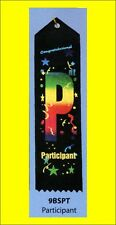 Participant Award Ribbon carded & string, LOT OF 10