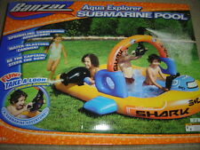 Banzai Aqua Explorer Submarine Pool w/ Blasting Cannon for Ages 2+ Brand New