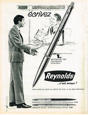 PUBLICITE ADVERTISING   1962   REYNOLDS    stylo bille  3 R