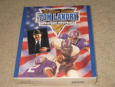 VINTAGE BRAND NEW FACTORY SEALED BIG BOX PC GAME TOM LANDRY STRATEGY FOOTBALL