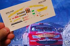 DECAL CALCA 1/24 PEUGEOT 206 WRC X. PONS RALLY MONTE CARLO 2005