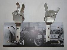 METAL DANDIE HANDS Nostalgia Hot Rod Drag Racing Bag Coat hook hanging Rack