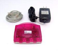 New Micro Connectors, Inc (S08-300STW) USB 4 Port Hub Strawberry Color