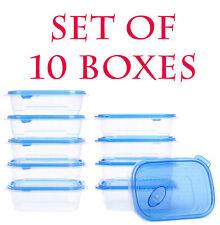 10 Nourriture Conteneur de stockage Boîtes En Plastique BPA Free micro-ondes Lav...