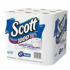 Scott 1000 Sheets Per Roll Toilet Paper 27 Rolls Bath Tissue