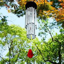 Silber Windspiel Klangspiel 27 Klangröhren Garten Dekor Feng Shui Windharfe Haus