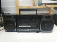 Sanyo M9100 Boombox AM/FM Stereo Cassette Recorder Ghetto Blaster Vintage WORKS!