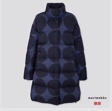 Uniqlo x Marimekko Women's Ultra Light Down Cocoon Coat Blue