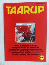 Taarup MASTER-MIX 110-MANGIME miscela-prospetto brochure 01.1993 (0888