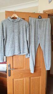Grey Marl Boohoo Loungewear Hooded Tracksuit. 14