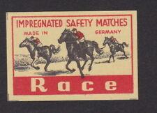 Ancienne  étiquette  allumettes  Allemagne  BN101585 Race Cheval Jockey
