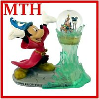 Disneyland Paris Exclusive Mickey Mouse Sorcerer's Apprentice Snowglobe - VGC