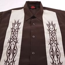 Dragonfly Shirt Men's Large Short Sleeve Brown
