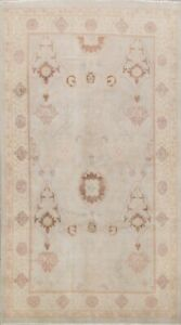 Antique Style Muted Oushak Egyptian Vegetable Dye Hand-Knotted Wool Area Rug 6x9