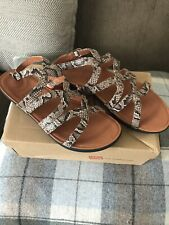 BNWB FITFLOP WOMENS STRATA LEATHER GLADIATOR SNAKE PRINT SANDALS SIZE UK 6