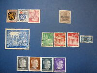 LOT 644 TIMBRES STAMP DIVERS ALLEMAGNE OCCUPATIONS ANNEE 1914 - 1945