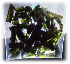 100 Carats Dark Green/Black Tourmaline Crystal Rough Pieces *Free USA Shipping