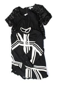 Lucy Paris  Womens Cropped Blouse Black Sequin Size Medium LOT 3