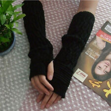 Knitted Gloves Long Arm Glove Warmer Wool Fingerless Ankle Glove Half Sleeves MW