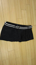 Chaps Women's Black Swim Skirt Bathing Suit Bikini Bottoms Size 16 Belted Cute!