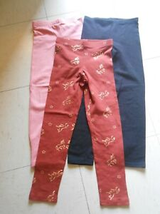 NWT LOT OF 3 GIRLS OLD NAVY PINK, BLACK & RUST LEGGINGS SIZE S(6-7)
