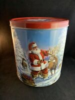 Vintage Christmas Santa Metal Popcorn Tin by Houston Harvest Gift Products